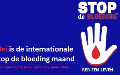 Mei is de (inter)nationale Stop de bloeding maand!