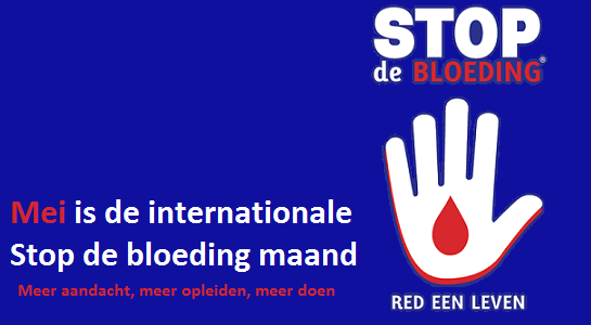 Mei is de (inter)nationale Stop de bloeding maand!