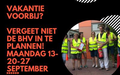 Vakantie voorbij? Vanaf 13 september worden er weer BHV-EHBO-AED cursussen verzorgd